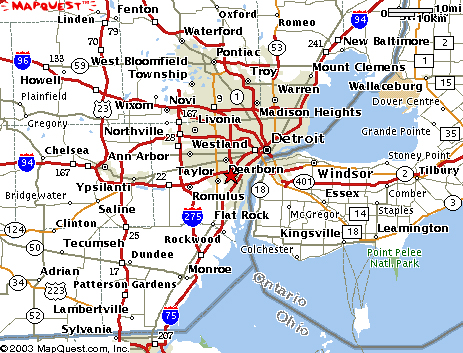 Similiar Map Of Metro Detroit MI Keywords
